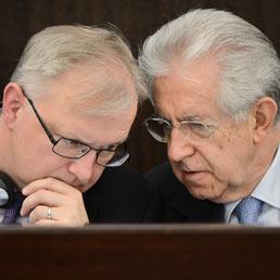 Monti vede Rehn: pressing su Berlino