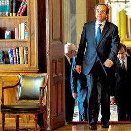 Il leader conservatore Samaras si reca dal presidente Papoulias da premier in pectore