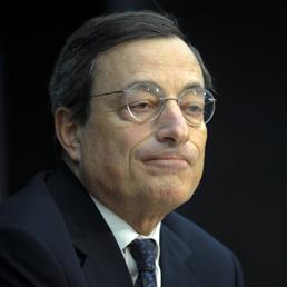 Nella foto il Presidente della Banca centrale europea, Mario Draghi
