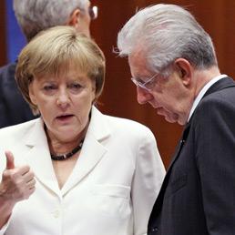Angela Merkel e Mario Monti (Reuters)