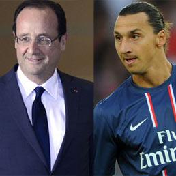 Francois Hollande e Zlatan Ibrahimovic