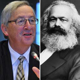 Jean Claude Juncker e Karl Marx