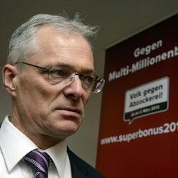 Thomas Minder, il principale proponente del quesito referendario (Afp)