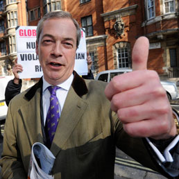 Il leader di UKIP, Nigel Farage (Ansa)