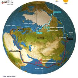 Dalla Cina a Rotterdam tra i ghiacci dell'Artico: martedì traguardo storico per la prima nave commerciale