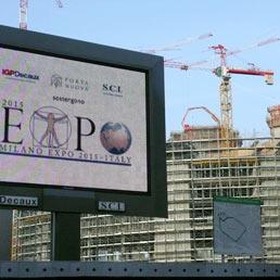 Un cantiere per Expo 2015 (Olycom)