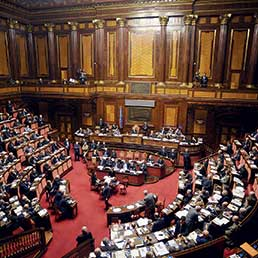 Nella foto l'Aula di Palazzo Madama