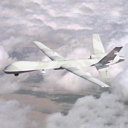 Uno scatto del velivolo Predator B