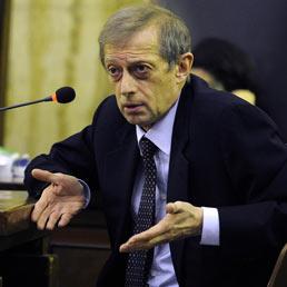 Piero Fassino in tribunale nel corso dell'udienza del processo Unipol dove e' stato chiamato a testimoniare.