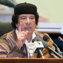 Il colonnello Muammar Gheddafi