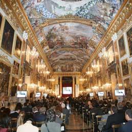 Una sala di Palazzo Colonna a Roma durante un convegno (Ansa)