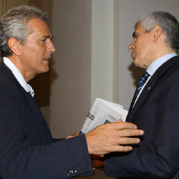 Francesco Rutelli e Pier Ferdinando Casini (LaPresse)