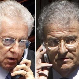 Obama loda i «piccoli passi concreti» di Monti, ma il premier non c'è: è al telefono con Cicchitto (Ansa)