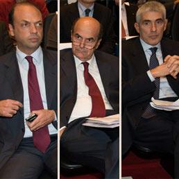 Alfano, Bersani e Casini all'unisono: errore drammatico cancellare i finanziamenti ai partiti