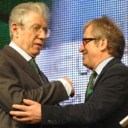 Umberto Bossi e Roberto Maroni (Ansa)
