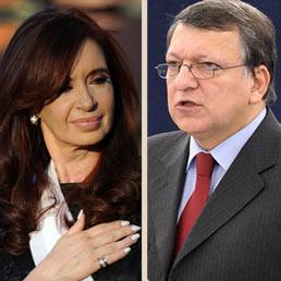 Cristina Kirchner e Manuel Barroso