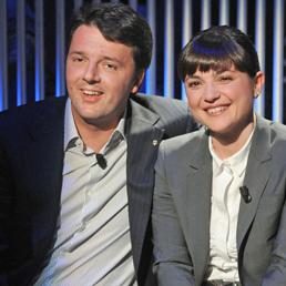 Matteo Renzi con Debora Serracchiani (Olycom)