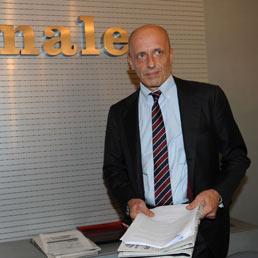 Nella foto il direttore de Il Giornale, Alessandro Sallusti