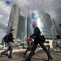 Milano, i grattacieli di Porta Garibaldi (Fotogramma)