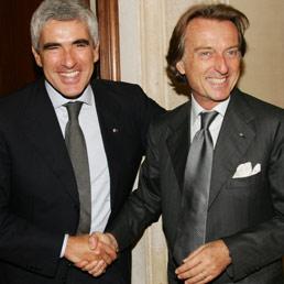 Pier Ferdinando Casini e Luca Cordero di Montezemolo (Ansa)