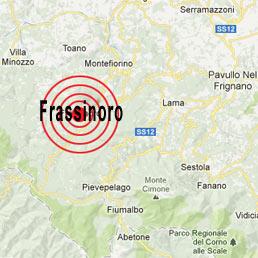 La scossa di terremoto che ha colpito la Toscana ha avuto epicentro in Garfagnana (a Frassinoro) con profondità 15,5 km e una magnitudo di 4.8