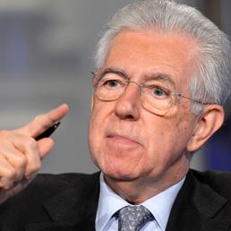 Mario Monti alla trasmissione Rai Porta a porta (Olycom)