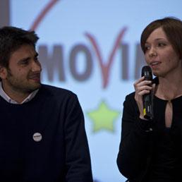 Alessandro Di Battista e Marta Grande (Ansa)