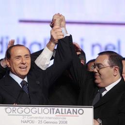 Silvio Berlusconi con Sergio de Gregorio (Emblema)