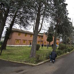 Gli edifici dove si trovano i detenuti minorenni del carcere di Casal del Marmo (Ansa)