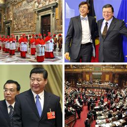 Tutto in una settimana dal conclave ai nuovi leader in for Notizie parlamento italiano