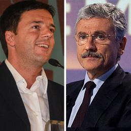 Matteo Renzi e Massimo D'Alema