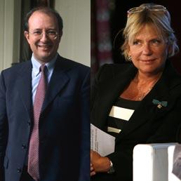 Vincenzo Fortunato, Elisabetta Spitz (Imagoeconomica/Ansa)