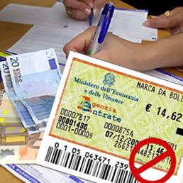 E l'imposta fissa di bollo � gi� cresciuta a 2 e a 16 euro