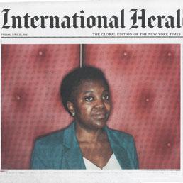 L'Herald Tribune mette in prima pagina il ministro Kyenge: ha spezzato una barriera razziale