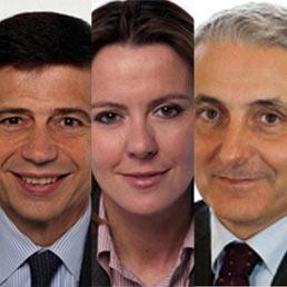 Maurizio Lupi, Beatrice Lorenzin e Gaetano Quagliariello (Ansa)