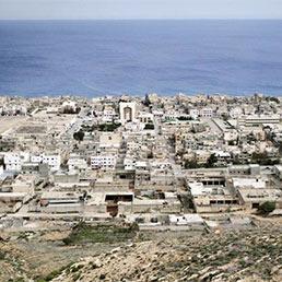 Veduta della citt� di Derna
