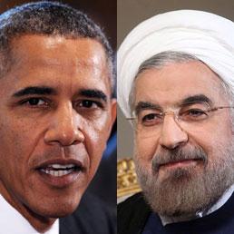 Il presidente degli Stati Uniti, Barack Obama e il presidente iraniano, Hassan Rohani (Epa)