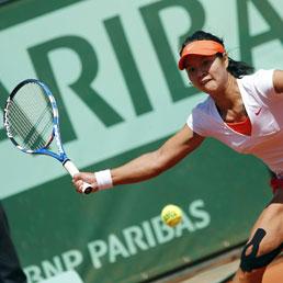 La cinese Li Na durante il match contro Maria Sharapova (Afp)