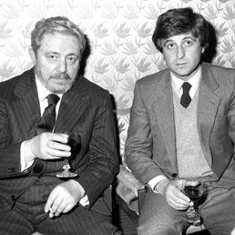 Gianni Brera con Gianni Rivera (Olycom)