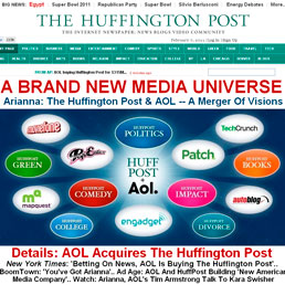 Il sito di news Huffington Post, co-fondato dalla celeberrima Arianna Huffington è stato acquistato dal colosso Internet Aol