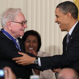 Warren Buffett e Barack Obama (Ap)