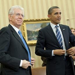 Obama: piena fiducia all'Italia. Oggi Monti a Wall Street (Epa)