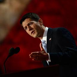 Il candidato alla vicepresidenza Paul Ryan (AFP)