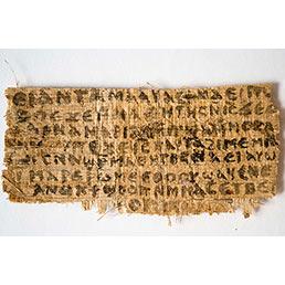 Nella foto il frammento di papiro scoperto dalla professoressa Karen King della Harvard Divinity School (AP Photo)