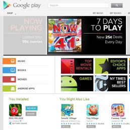 """Google Play si """"mangia"""" Android market: sfida ad iTunes con apps, film, musica e libri (Ap)"""
