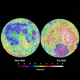 L'andamento altimetrico della Luna in entrambe le due facce