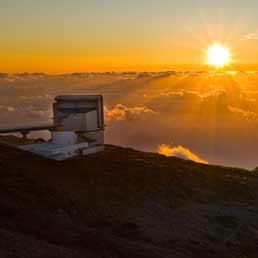 Una veduta del Telescopio Nazionale Galileo, italiano 3.6 metri di diametro, posto alle Isole Canarie