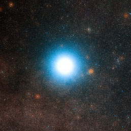 Un'immagine vera della stella Alfa del Centauro come si vede da Terra con i potenti telescopi dell'Osservatorio Europeo in Cile