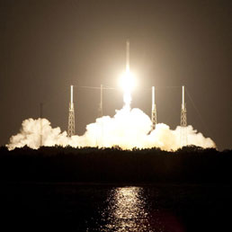 La partenza del razzo vettore Falcon 9