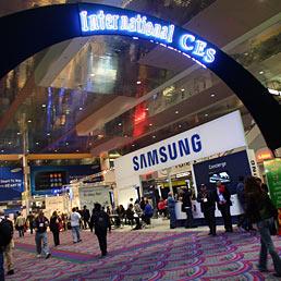 Nella foto lo stand di Samsung nell'edizione del Ces dello scorso anno (Corbis)